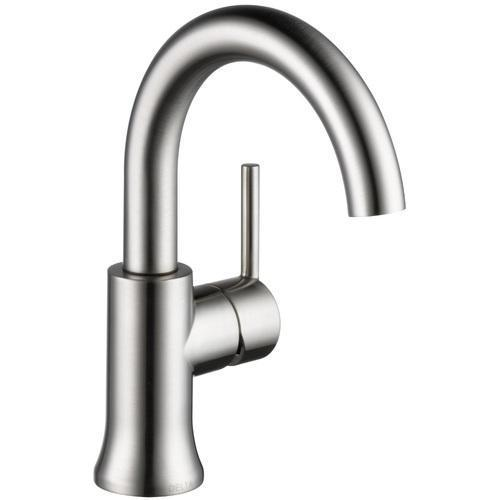 Delta bathroom sink faucet Stainless Delta Trinsic: Single Handle High-Arc Lavatory Faucet