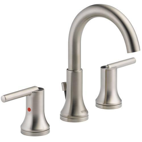 Delta bathroom sink faucet Stainless Delta Trinsic: Two Handle Widespread Lavatory - Metal Pop-Up