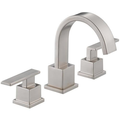Delta bathroom sink faucet Stainless Delta Vero: Two Handle Widespread Lavatory Faucet