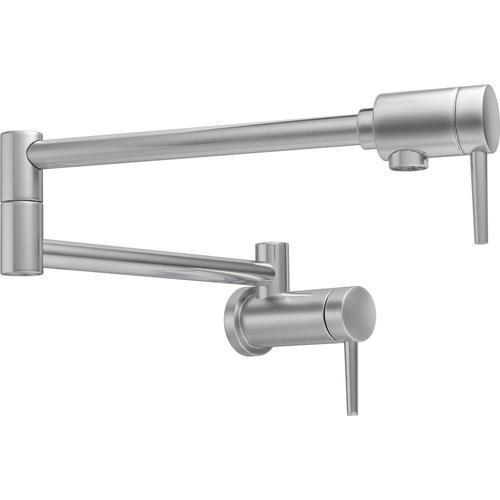 Delta kitchen faucet Arctic Stainless Delta: Contemporary Wall-Mount Pot Filler Faucet