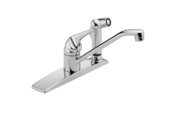 "Delta kitchen faucet Chrome Delta ""Classic"" Chrome Single Handle Faucet with Side Spray"