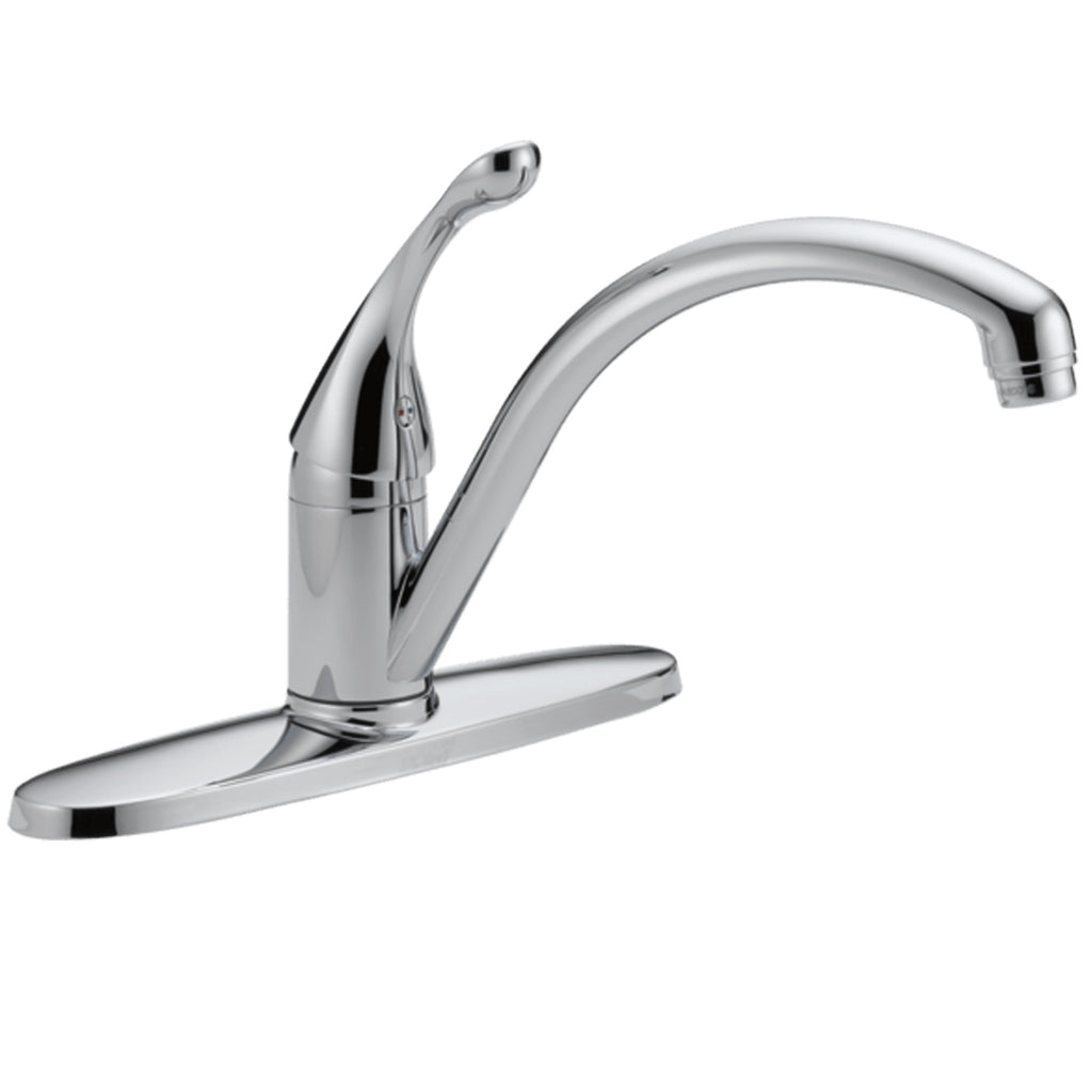 "Delta kitchen faucet Chrome Delta ""Classic"" Chrome Single Handle Kitchen Faucet"