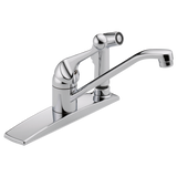 Delta kitchen faucet Chrome Delta Classic: Single Handle Kitchen Faucet with Integral Spray