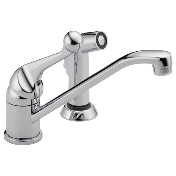 Delta kitchen faucet Chrome Delta Classic: Single Handle Kitchen Faucet with Spray