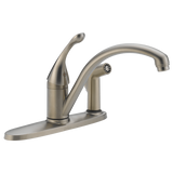 Delta kitchen faucet Delta Classic: Single Handle Kitchen Faucet with Integral Spray