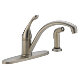Delta kitchen faucet Delta Classic: Single Handle Water Efficient Kitchen Faucet with Spray
