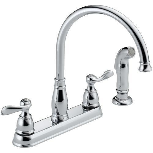 Delta Kitchen Faucet Delta Foundations Two Handle Kitchen Faucet