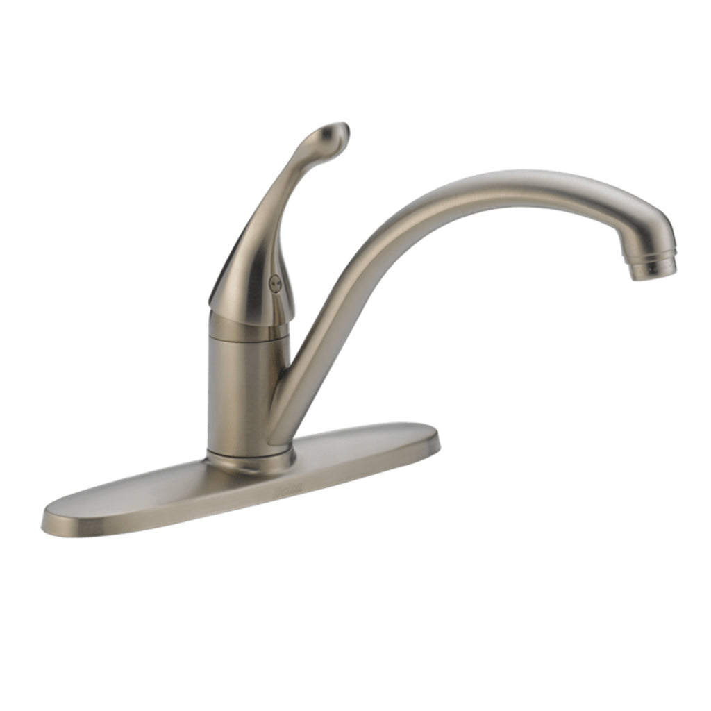 Delta kitchen faucet Stainless Delta Classic: Single Handle Water Efficient Kitchen Faucet