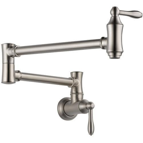 Delta kitchen faucet Stainless Delta: Wall Mount Pot Filler Faucet - Traditional