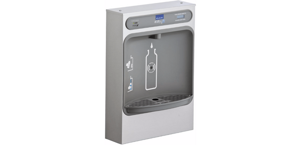 Elka Coolers and Fountains Stainless Elkay EZH2O Bottle Filling Station Surface Mount, Filtered Non-Refrigerated Stainless