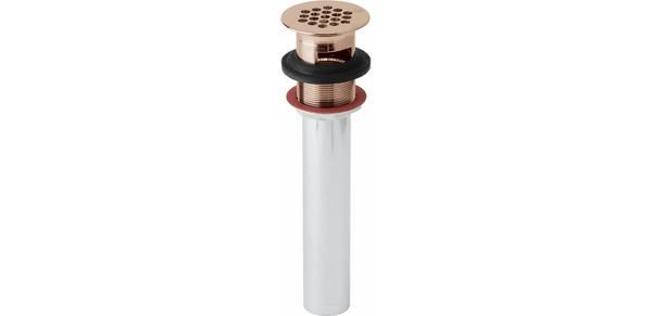 Elkay Accessories Copper Elkay Drain Fitting CuVerro Antimicrobial Copper with Perforated Grid and Tailpiece