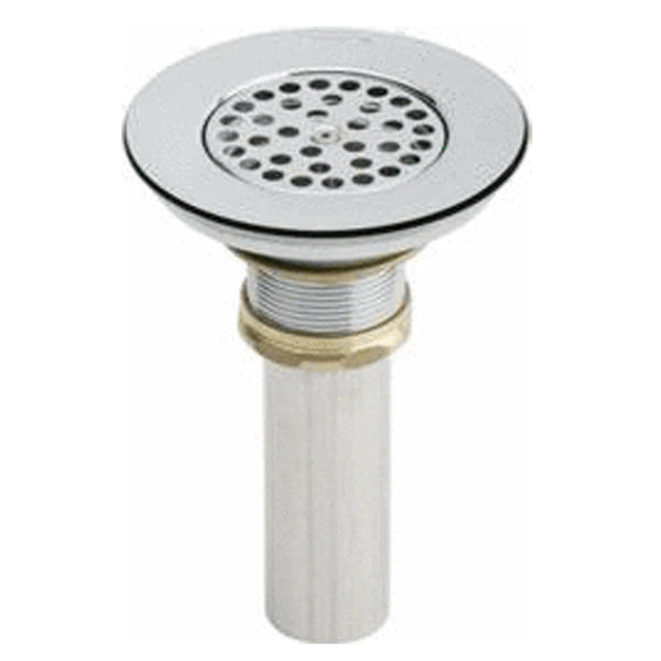 Elkay Accessories Polished Stainless Steel Elkay Drain Type 304 Stainless Steel Body, Vandal Resistant Grid Strainer