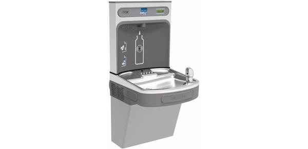 Elkay Coolers and Fountains Light Gray Elkay EZH2O Bottle Filling Station with Single ADA Cooler, Non-Filtered Non-Refrigerated Light Gray
