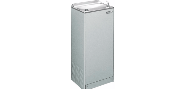 Elkay Coolers and Fountains Light Gray Granite Elkay Cooler Floor Mount Non-Filtered 4 GPH Glass Filler Prepped  Light Gray Granite