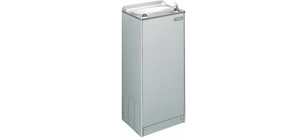 Elkay Coolers and Fountains Light Gray Granite Elkay Cooler Floor Mount Non-Filtered 8 GPH Glass Filler Prepped Light Gray Granite