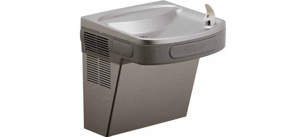 Elkay Coolers and Fountains Stainless Elkay Cooler Wall Mount ADA Non-Filtered,Glass Filler Prepped Non-Refrigerated Stainless