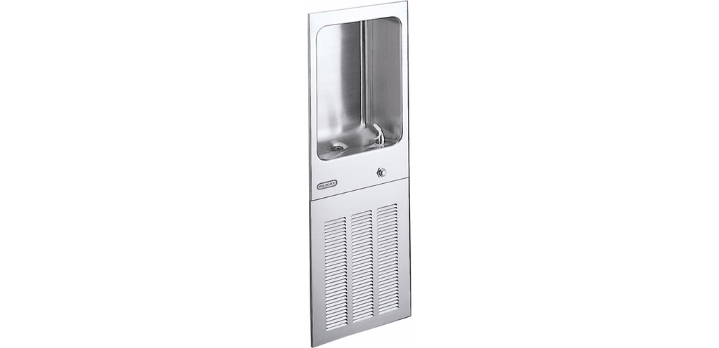Elkay Coolers and Fountains Stainless Elkay Cooler Wall Mount Full Recessed Filtered 8 GPH Stainless