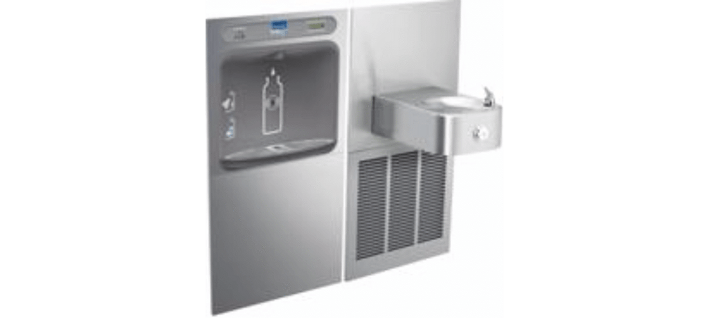Elkay Coolers and Fountains Stainless Elkay EZH2O Bottle Filling Station & Soft Sides Single Fountain, Filtered 8 GPH Stainless
