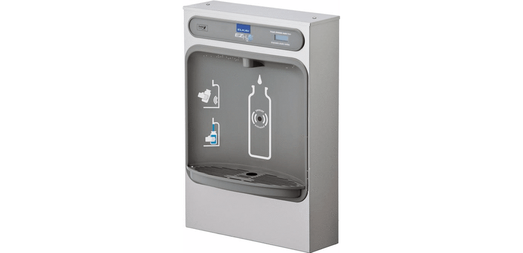 Elkay Coolers and Fountains Stainless Elkay EZH2O Bottle Filling Station Surface Mount, Non-Filtered Non-Refrigerated Stainless