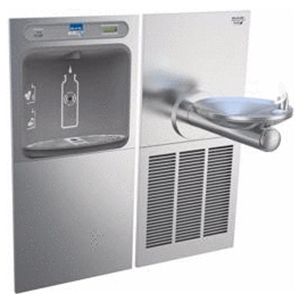 Elkay Coolers and Fountains Stainless Elkay EZH2O Bottle Filling Station & SwirlFlo Single Fountain, High Efficiency Filtered 8 GPH Stainless