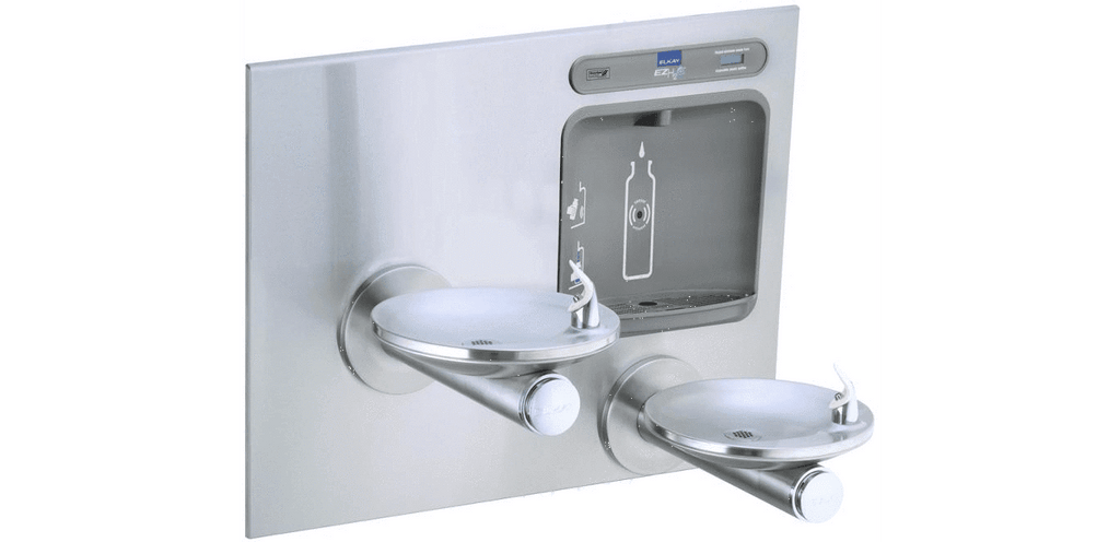 Elkay Coolers and Fountains Stainless Elkay EZH2O Bottle Filling Station with Integral SwirlFlo Fountain, Non-Filtered Non-Refrigerated Stainless
