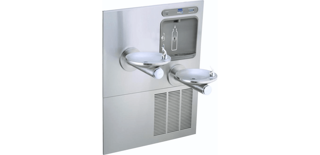 Elkay Coolers and Fountains Stainless Elkay EZH2O Bottle Filling Station with Integral SwirlFlo Fountain, Refrigerated Filtered Stainless