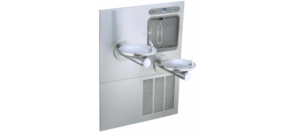 Elkay Coolers and Fountains Stainless Elkay EZH2O Bottle Filling Station with Integral SwirlFlo Fountain, Refrigerated Non-Filtered Stainless