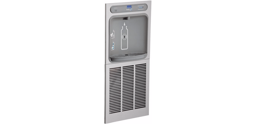 Elkay Coolers and Fountains Stainless Elkay EZH2O In-Wall Bottle Filling Station, Filtered 8 GPH Stainless