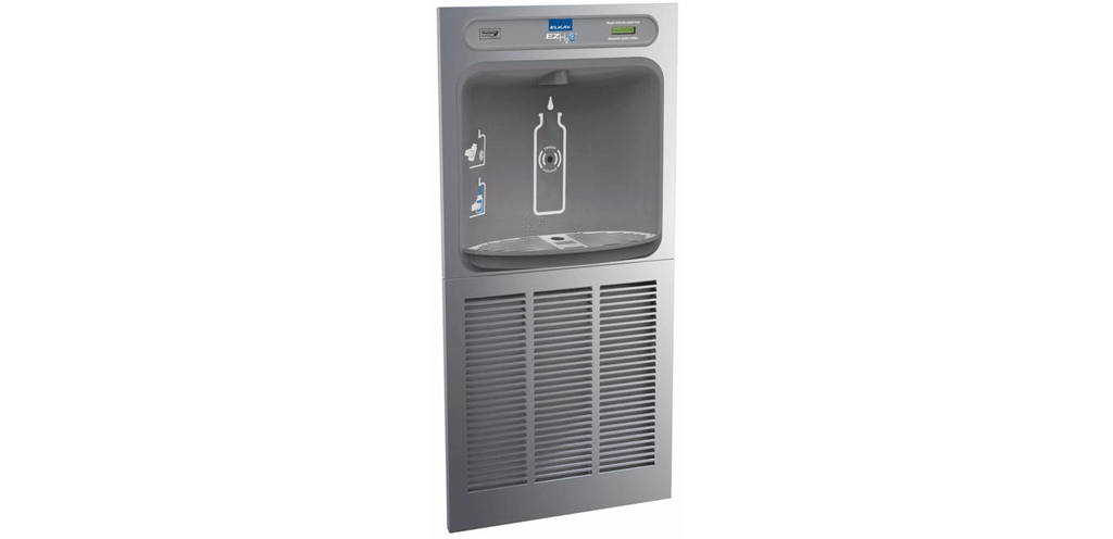 Elkay Coolers and Fountains Stainless Elkay EZH2O In-Wall Bottle Filling Station, High Efficiency Non-Filtered 8 GPH Stainless