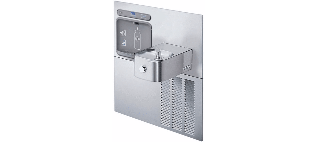 Elkay Coolers and Fountains Stainless Elkay EZH2O Retrofit Bottle Filling Station & Soft Sides Fountain, Non-Filtered 8 GPH Stainless