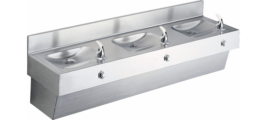 Elkay Coolers and Fountains Stainless Elkay Multi-Station Fountain Non-Filtered Non-Refrigerated, Stainless