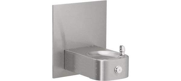 Elkay Coolers and Fountains Stainless Elkay Soft Sides Heavy Duty Single Fountain Non-Filtered, Non-Refrigerated Freeze Resistant Stainless