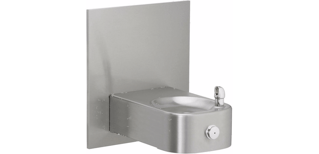 Elkay Coolers and Fountains Stainless Elkay Soft Sides Heavy Duty Single Fountain Non-Filtered, Non-Refrigerated Stainless
