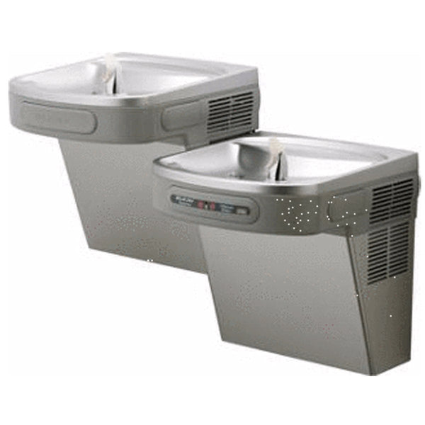 Elkay Coolers and Fountains Stainless Elkay Versatile Cooler Wall Mount Bi-Level ADA Filtered, 8 GPH Stainless