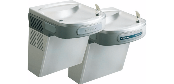 Elkay Coolers and Fountains Stainless Elkay Versatile Cooler Wall Mount Bi-Level ADA Hands-Free, Non-Filtered Non-Filtered 8 GPH Stainless