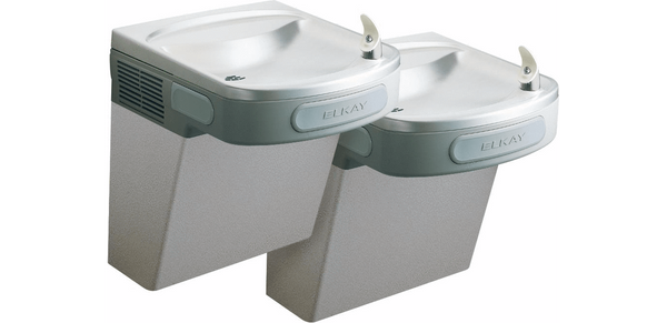 Elkay Coolers and Fountains Stainless Elkay Versatile Cooler Wall Mount Bi-Level ADA Non-Filtered, 8 GPH Stainless