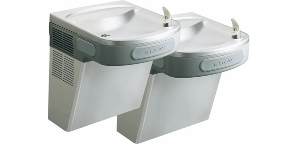 Elkay Coolers and Fountains Stainless Elkay Versatile Cooler Wall Mount Bi-Level ADA Non-Filtered, Non-Refrigerated Stainless
