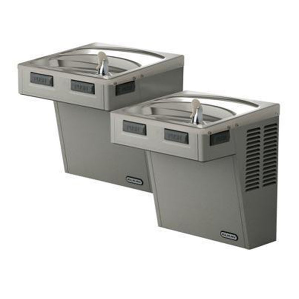 Elkay Coolers and Fountains Stainless Elkay Wall Mount Bi-Level ADA Cooler, Non-Filtered 8 GPH Stainless