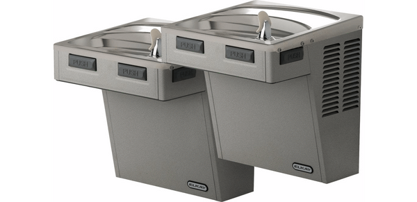 Elkay Coolers and Fountains Stainless Elkay Wall Mount Bi-Level Reverse ADA Cooler, Non-Filtered 8 GPH Stainless