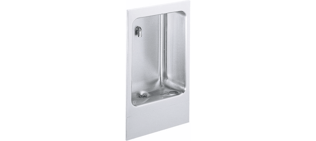 Elkay Coolers and Fountains Stainless Elkay Wall Mount Fully Recessed Cuspidor Non-Filtered, Non-Refrigerated Stainless