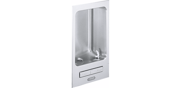 Elkay Coolers and Fountains Stainless Elkay Wall Mount Fully Recessed Fountain Non-Filtered, Non-Refrigerated Freeze Resistant Stainless