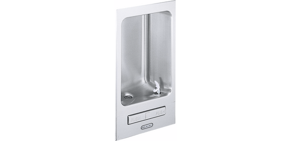 Elkay Coolers and Fountains Stainless Elkay Wall Mount Fully Recessed Fountain Non-Filtered, Non-Refrigerated Stainless