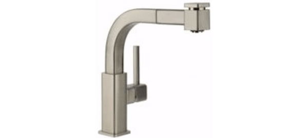 Elkay Faucet Items Brushed Nickel Elkay Avado Single Hole Bar Faucet with Pull-out Spray and Lever Handle Brushed Nickel