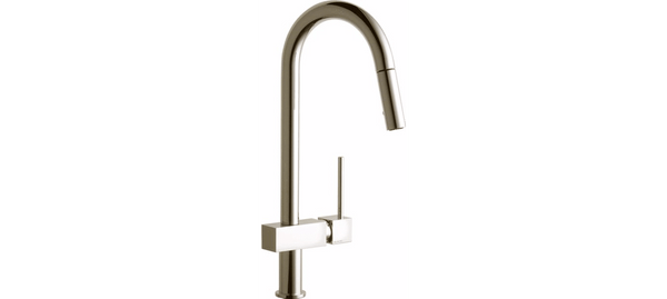 Elkay Faucet Items Brushed Nickel Elkay Avado Single Hole Kitchen Faucet with Pull-down Spray and Lever Handle Brushed Nickel