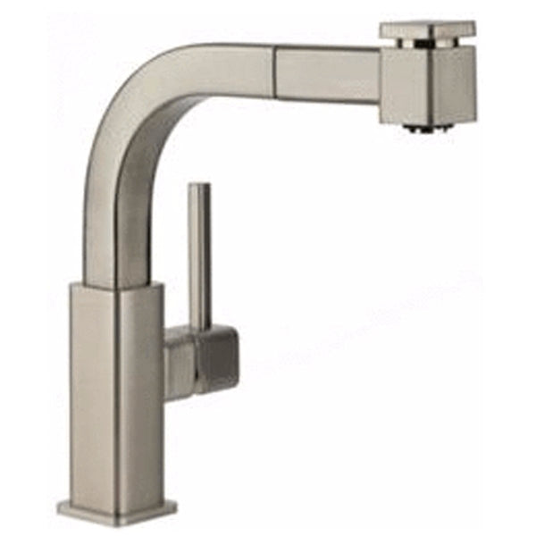 Elkay Faucet Items Chrome Elkay Avado Single Hole Bar Faucet with Pull-out Spray and Lever Handle Chrome