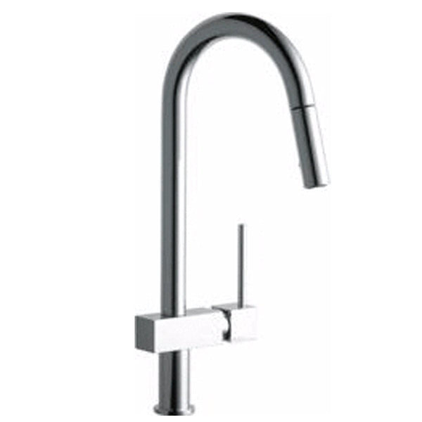 Elkay Faucet Items Chrome Elkay Avado Single Hole Kitchen Faucet with Pull-down Spray and Lever Handle Chrome