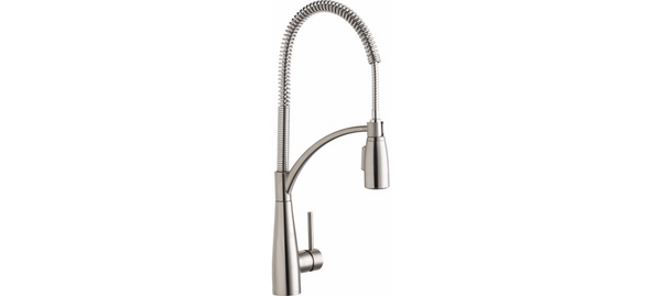 Elkay Faucet Items Lustrous Steel Elkay Avado Single Hole Kitchen Faucet with Semi-Professional Spout Forward Only Lever Handle Lustrous Steel