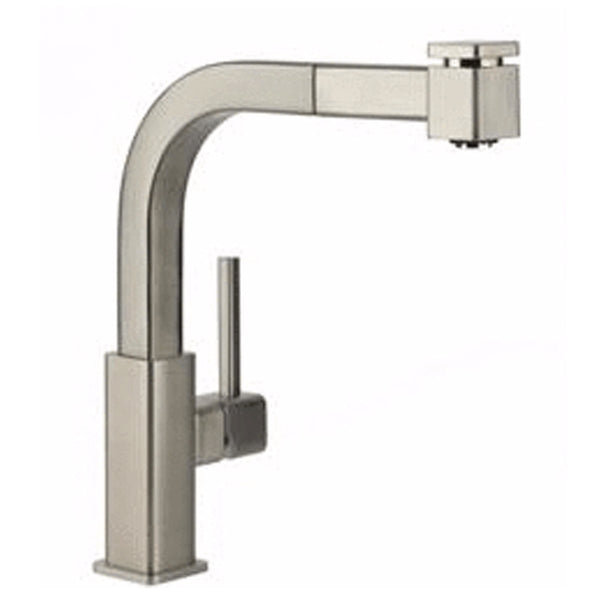 Elkay kitchen faucet Brushed Nickel Elkay Avado Single Hole Kitchen Faucet with Pull-out Spray and Lever Handle Brushed Nickel