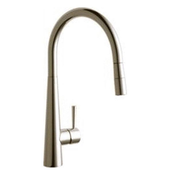 Elkay kitchen faucet Brushed Nickel Elkay Harmony Single Hole Kitchen Faucet with Pull-down Spray and Lever Handle Brushed Nickel