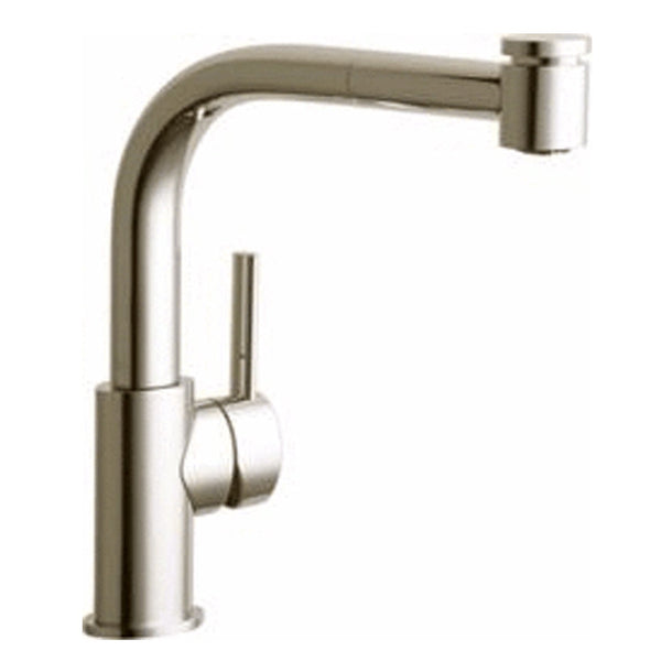 Elkay kitchen faucet Brushed Nickel Elkay Mystic Single Hole Kitchen Faucet with Pull-out Spray and Lever Handle Brushed Nickel